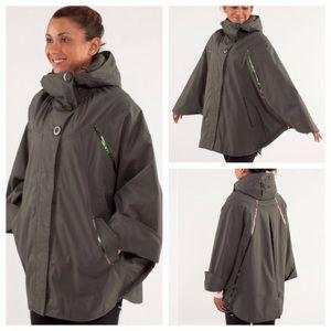 Lululemon Olive Green Peak to Peak Poncho Coat